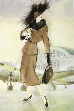 Lady at Airport by Graham Reynold