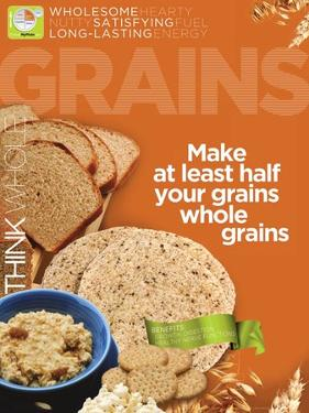 Grains MyPlate Food Group Poster