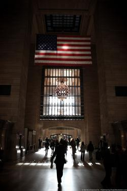 Gramd Central Station American Flag NYC