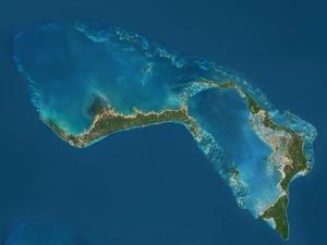 Grand Bahama and Abaco Islands, Bahamas, Satellite Image