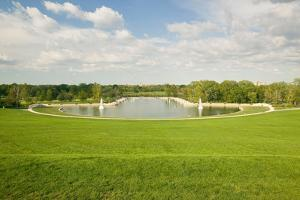 Grand Basin looking from top of Art Hill in Forest Park, St. Louis, Missouri