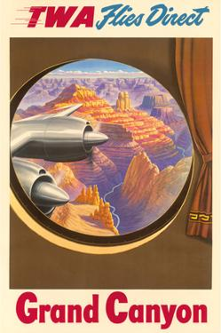 Grand Canyon, Arizona - Trans World Airlines TWA Flies Direct
