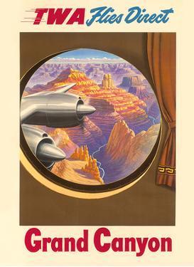 Grand Canyon, Arizona - TWA Flies Direct - Trans World Airlines