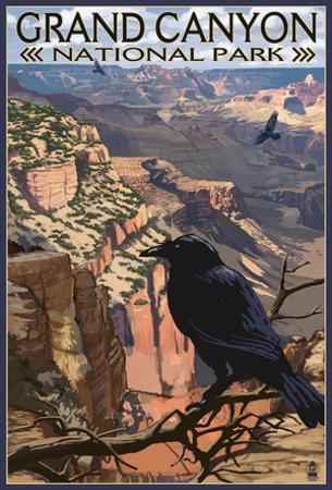 Grand Canyon National Park- Ravens At South Rim