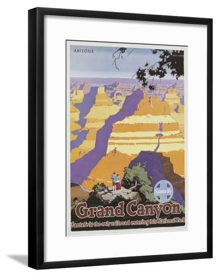 Grand Canyon Poster by Oscar Bryn--Framed Giclee Print