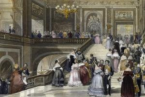 Grand Celebration at Palace of Versailles, 1840-1850, by Eugene Louis Lami (1800-1890)