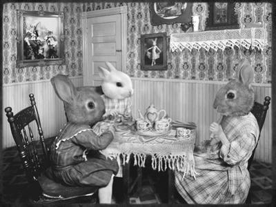 Bunny Tea Party by Grand Ole Bestiary