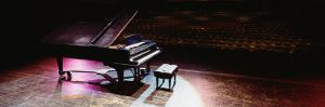 Grand Piano on a Concert Hall Stage, University of Hawaii, Hilo, Hawaii, USA