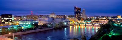 Grand Rapids at dusk, Kent County, Michigan, USA