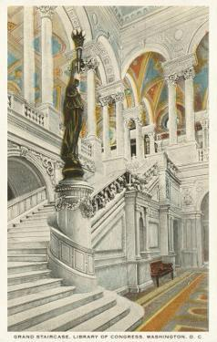 Grand Staircase, Library of Congress, Washington D.C.