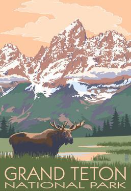 Grand Teton National Park - Moose and Mountains