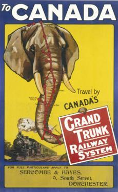 Grand Trunk Railway System Poster