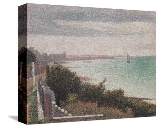Grandcamp, Evening, 1885-Georges Seurat-Stretched Canvas