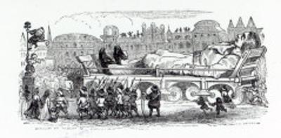 Gulliver Being Transported to the Lilliputian Capital, A