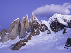Alpenglow on Cerro Torre, from Circo De Los Altars by Grant Dixon