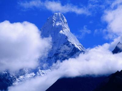 Ama Dablam from Near Tengboche on Everest Basecamp Trek, Everest Base Camp, Sagarmatha, Nepal