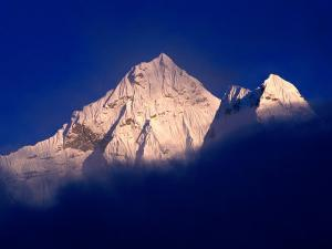 Ama Dablam from Pheriche in Khumbu Valley on Everest Basecamp Trek, Sagarmatha, Nepal by Grant Dixon