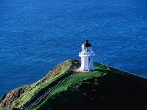 Cape Reinga Lighthouse on Northern Tip of New Zealand, New Zealand by Grant Dixon