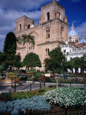 Cathedral of Cuenca Looking Next to Parque Calderon, Cuenca, Azuay, Ecuador by Grant Dixon