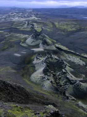Crater Row from the 1783 Volcanic Eruptions, Sudurland, Iceland by Grant Dixon