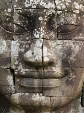 Detail of Face Towers at Bayon by Grant Dixon