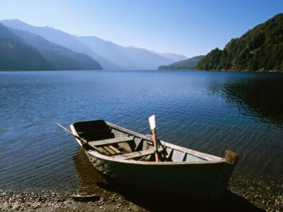 Dinghy on Beach at Lago Curruhue, Lake District