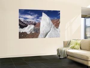 Ice Pinnacles at Terminus of Glaciar Italia, Rio Colorado Headwaters by Grant Dixon