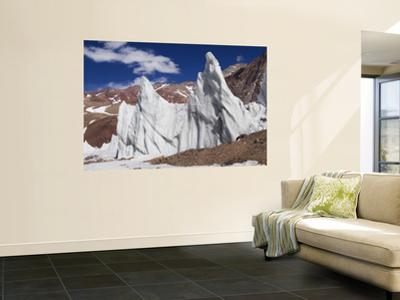 Ice Pinnacles at Terminus of Glaciar Italia, Rio Colorado Headwaters
