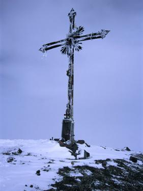 Iron Cross on Summit of Volcan Misti, El Misti, Arequipa, Peru by Grant Dixon