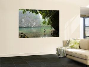 Lagoon Amongst Limestone Karst Towers by Grant Dixon