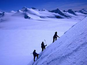 Mountaineers Ascending the Peaks Above Shackleton Gap, Antarctica by Grant Dixon
