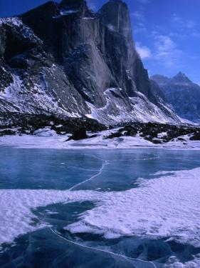 Mt. Thor and Frozen Kettle Lake, Auyuittuq National Park, Baffin Island, Nunavut, Canada by Grant Dixon
