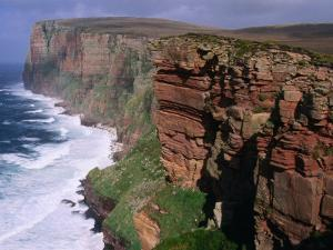Old Red Sandstone Cliffs Toward St. Johns Head, Hoy, Orkney Islands, Scotland by Grant Dixon