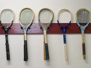Racquets at Royal Tennis Court by Grant Dixon