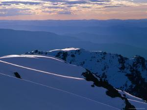 Ridges from Mt. Carruthers in Winter, Kosciuszko National Park, New South Wales, Australia by Grant Dixon