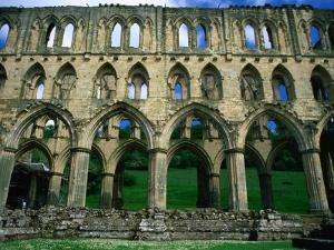 Rievaulx Abbey 12th Century Cistercian Monastery, North York Moors National Park, England by Grant Dixon