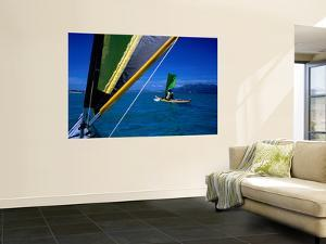 Sea Kayakers under Sail, Furneaux Islands, Bass Strait by Grant Dixon