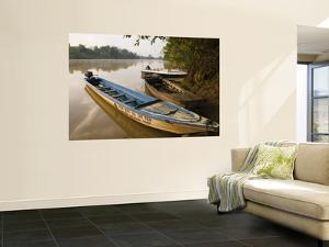 Shuttle Boats on Dong Nai River, Cat Tien National Park by Grant Dixon