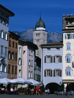 Street Cafe in Piazza Duomo, Trento, Trentino-Alto-Adige, Italy by Grant Dixon