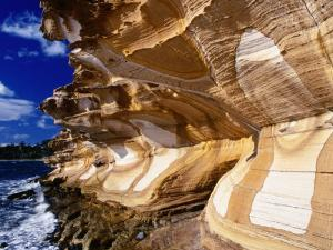 The Painted Cliffs, Maria Island National Park, Tasmania, Australia by Grant Dixon