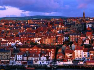 Town Buildings at Dawn, Whitby, North Yorkshire, England by Grant Dixon