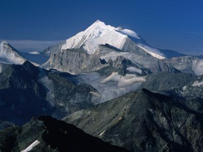 Weisshorn from the Schwarzhorn., Pennine Alps, Valais, Switzerland