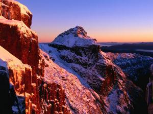 Winter Dawn on Mt. Anne, South West National Park, Tasmania, Australia by Grant Dixon