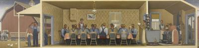 Dinner for Threshers, c.1934 by Grant Wood