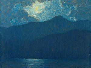 Sunrise over Catalina Island. 1920 by Granville Redmond