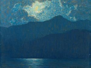 Sunrise over Catalina Island. 1920 by Granville Redmond