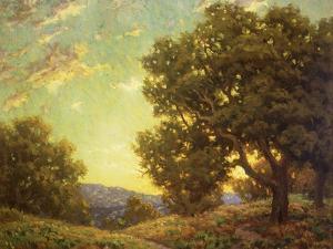 Sunset Landscape by Granville Redmond