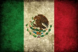 Grunge Mexican Flag by Graphic Design Resources