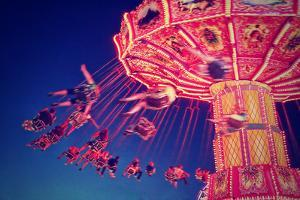 A Fair Ride Shot with a Long Exposure at Night by graphicphoto