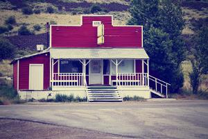 An Old Closed Country Store in a Desolate Town by graphicphoto